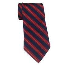"Brooks Brothers Men Dress Silk Tie Red Blue Stripes 58"" long 3.75"" - $38.75"