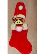 "WINNIE THE POOH 3-D TIGGER  18"" PLUSH CHRISTMAS STOCKING SO CUTE! - $18.99"