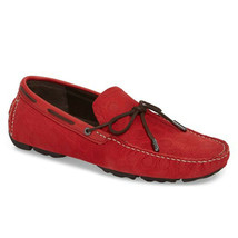UGG Australia Embossed Leather Driving Moccasin Red Men Size 10  - $121.25