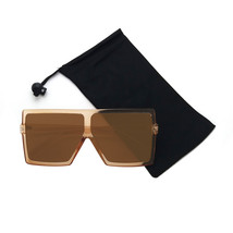 Aviator Oversized Square Flat Top Fashion Unisex Sunglasses - $10.99