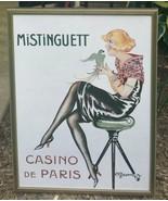 FRAMED ART PRINT POSTER ADVERTISEMENT MISTINGUETT CASINO DE PARIS GESMAR... - $164.99