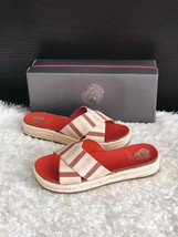 ✨New VINCE CAMUTO Carran Platform Slide Sandals Red Stripe Women Size 8M $89 NIB - $42.08