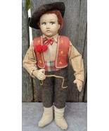 Antique Boy Doll in Mexican Costume Handpainted Features - $45.00