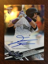 2017 Topps Chrome David Dahl #RA-DD RC Rookie Baseball Card Auto Rockies NM - $14.99