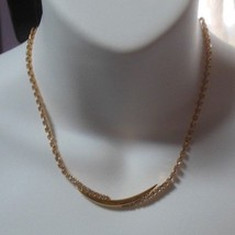 Vintage Trifari Gold-tone Clear Rhinestone Collar Necklace  - $74.25