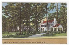West Haven Rocky Mount North Carolina linen postcard - $5.94