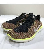 Nike Free RN Flyknit Running Shoes Multicolor Trainer Men's 12 Athletic Air - $59.99