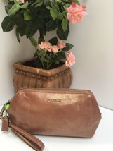 Coach Madison Soft Leather Large Wristlet Clutch Bag Rose Gold 49997 B25 - $103.90