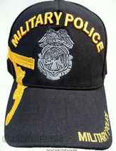 Military Police Veteran Cap/Hat w/Embroidered Badge Black Military Free Ship ! - $19.99