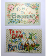 GR56 Lot of 5 To My Dear Father Mother Brother and 2 Sister Div Back Pos... - $9.90