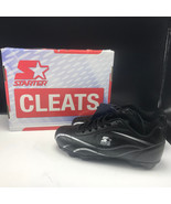 ALL PURPOSE STARTER CLEATS shoes box tags black white size 4 baseball so... - $29.65