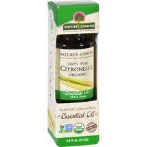 Natures Answer Essential Oil  Organic  Citronella  .5 oz - $6.99