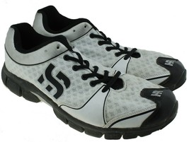 Hang rite Mens White Silver Black Athletic Shoes Sneakers Running Size 1... - $17.03