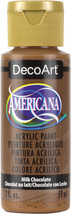 Americana Acrylic Paint 2Oz-Milk Chocolate - Opaque - $6.30