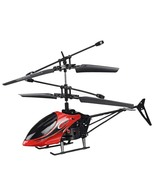 2-channel anti-fall remote control mini helicopter with LED lights-red - $19.99