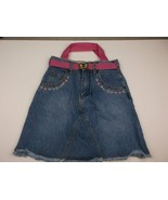 HANDMADE UPCYCLED KIDS PURSE BLUE JEAN SKIRT 6 CMPMT BUTTERFLY 17X15 IN ... - £10.86 GBP