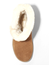 Universal Thread Womens Daniah Chestnut Genuine Suede Faux Fur Winter Snow Boots image 3
