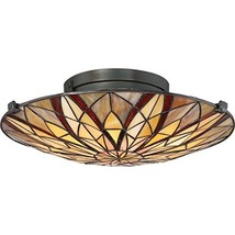 Quoizel TFVY1400VA Victory Flush Mount Ceiling Lighting, 2-Light, 120 Wa... - $249.39
