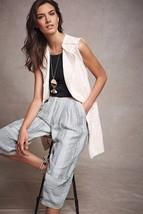 Nwt Anthropologie Luna Frayed White Belted Vest Jacket By Elevenses S - $75.99