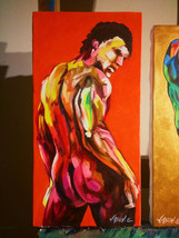 Gay Nude Male HOMOEROTIC Oil Painting on canvas. Gay Pride LGBTQ. Canvas... - $236.00