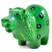 Tabaka Chigware Hand Carved Kisii Soapstone Green Lion Figurine Made in Kenya image 5