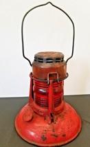 Antique Dietz Consolidated Edison System  No 40 Lantern Red Globe Syracu... - $49.95
