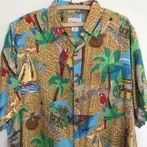 Vtg Reyn Spooner Jimmy Buffet Shirt Medium Margaritaville Macaw Parrot K... - $24.30