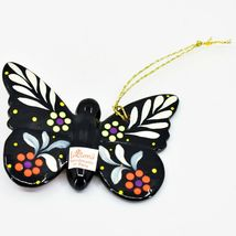 Handcrafted Painted Ceramic Monarch Butterfly Confetti Ornament Made in Peru image 3