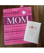 CLOSE-OUT! 1 MOTHER'S DAY Any Mom Greeting Card + BAG *SIGNATURE* LOVE H... - $2.96