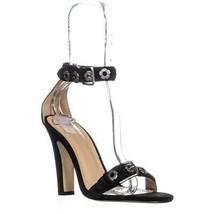 Coach Elizabeth102 Ankle Strap Sandals, Black - $93.99