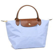 Longchamp Le Pliage Small Short Handel Nylon Handbag Light Blue 1621089A30 - $75.00
