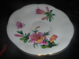 Coffee or Tea Saucer Bone China Made in England  Floral Gold EUC Antique - $9.11