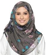 BOKITTA BLOOMISTIC - PRINTED SNOOTH CHIFFON INSTANT HIJAB Muslim Scarf Veil - $55.62+