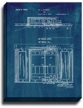 Murphy Bed Patent Print Midnight Blue on Canvas - $39.95+