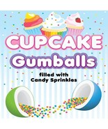 """Cupcake - Sprinkle Candy Filled Gumballs 1"""" - 1700 pcs Assorted - $139.99"""