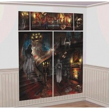Haunted Mansion Scene Setters Wall Decoration Kit Halloween - $7.72 CAD
