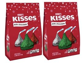 Hershey's Holiday Kisses Milk Chocolate 36-Ounce Bags 2 Pack - $34.67