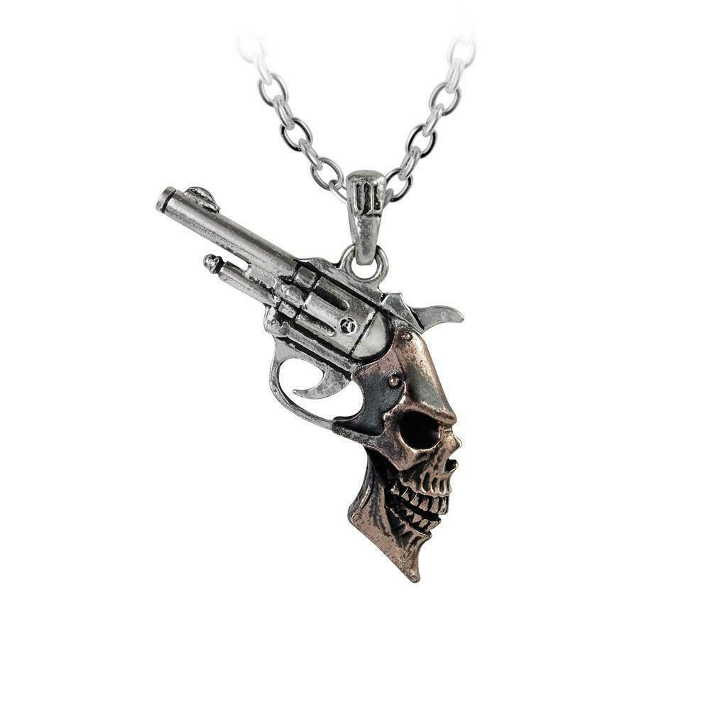 Alchemy Gothic ULP46 Triggerhead Necklace Pendant - $32.36