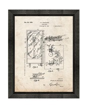 Pinball Game Patent Print Old Look with Beveled Wood Frame - $24.95+