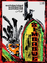 "16x20""Political World Solidarity Socialist Poster CANVAS.Zimbabwe.Africa... - $50.00"