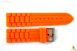 24mm Passt Fossil Orange Silikon Gummi Armbanduhr Band Armband - $12.11