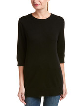 Vince Ribbed Cashmere Pullover Sweater Black XS - $178.19