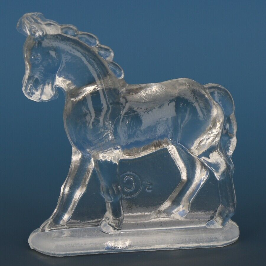 Vintage Smith Glass Miniature Crystal Horse Walking
