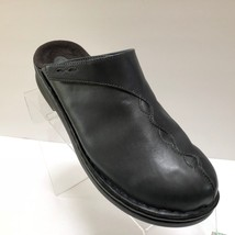 Womens Clarks Navy Blue Leather Mules Slip On Shoes Slides Clogs Size 9 ... - $29.95