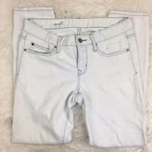 Gap Women's White Acid Washed Always Skinny Jeans Pants Size 27 - $18.65