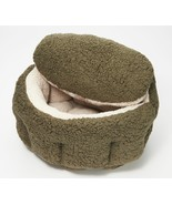 """Burrow Bud 23"""" x 25"""" Cozy Cuddle Pet Bed in Olive  @BM2 - $193.99"""
