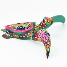 Handmade Alebrijes Oaxacan Copal Wood Carving Painted Folk Art Sea Turtle Figure image 1