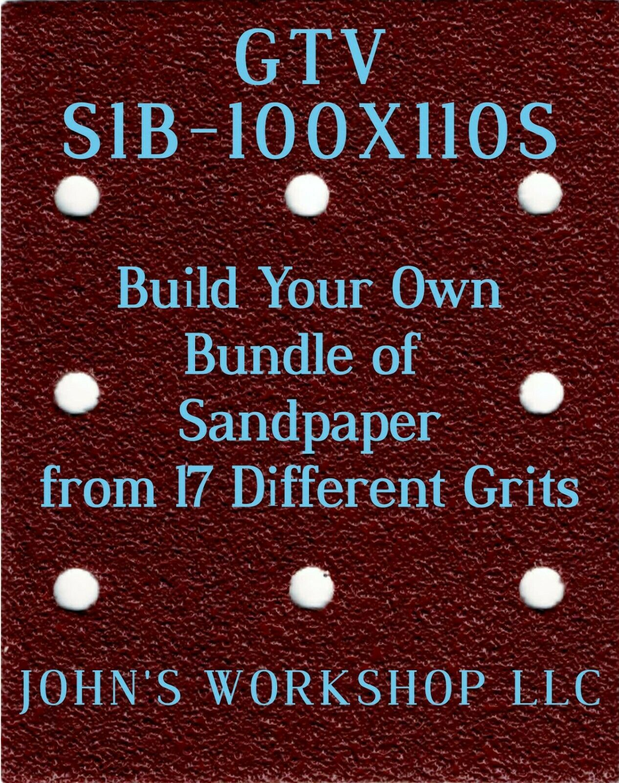 Primary image for Build Your Own Bundle GTV S1B-100X110S 1/4 Sheet No-Slip Sandpaper 17 Grits