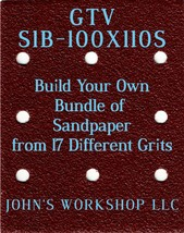 Build Your Own Bundle GTV S1B-100X110S 1/4 Sheet No-Slip Sandpaper 17 Grits - $0.99