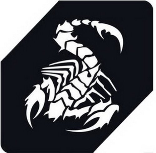 "Scorpion Car Decals Car Sticker Cool Stickers Car Window Sticker WHITE (5.9"")"